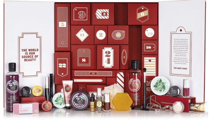 The Body Shop Advent calendar Adventskalender 2015