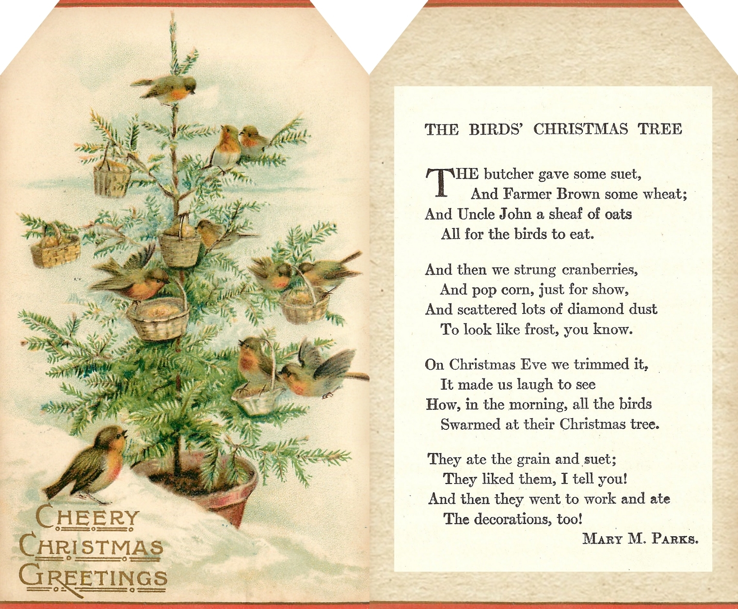 Lilac & Lavender: The Birds' Christmas Tree