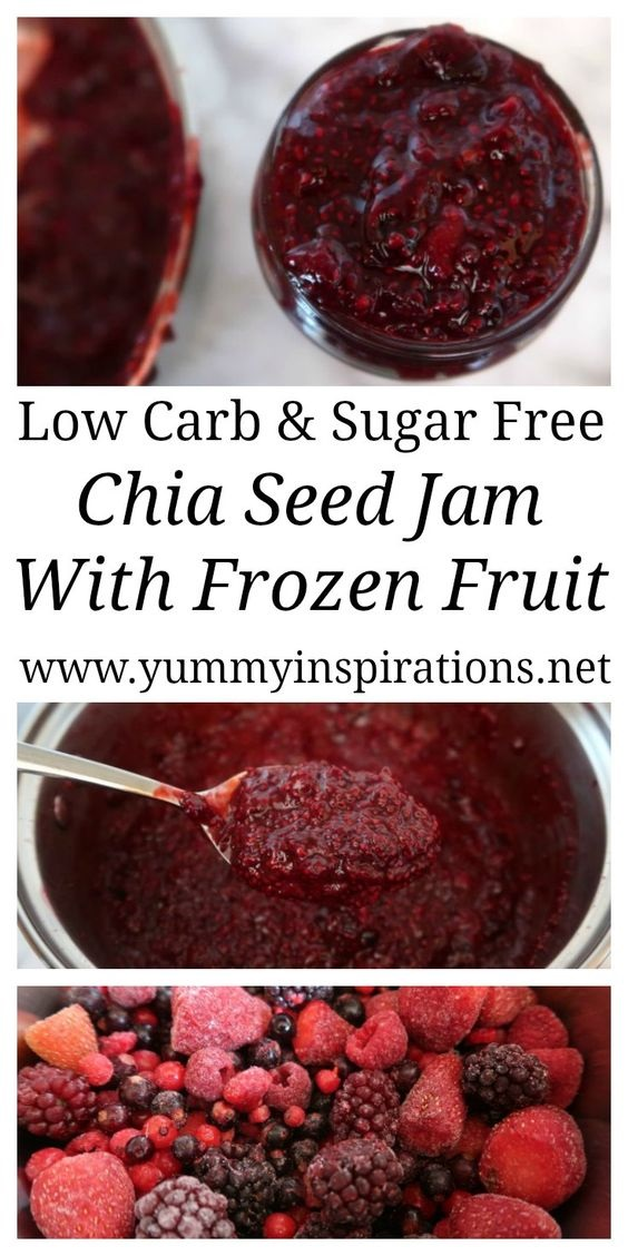 Chia Seed Jam Recipe With Frozen Fruit