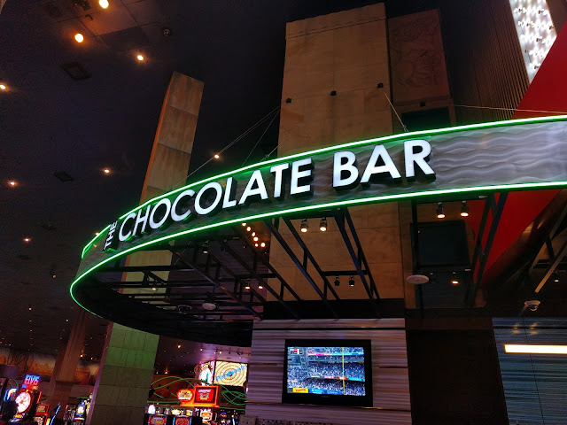 The Chocolate Bar outside Hershey's World in New York New York Las Vegas