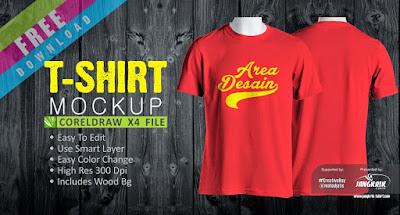 Template Desain MockUp T-Shirt