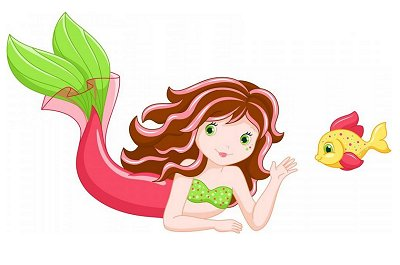 Mermaid Peel and Stick Wall Decals