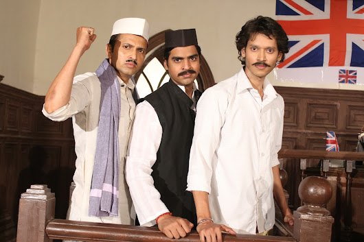 Rishabh raj in the role of bhagat singh while shooting at essel studio for movie shaheed Chandrasekhar azaad
