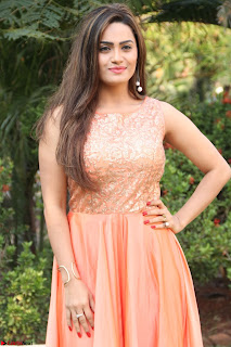 Actress Sakshi in beautiful orange Anarkali Dress Spicy Pics    051.jpg