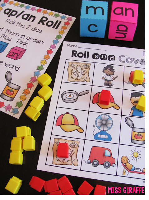 So many fun short vowel word families centers and activities
