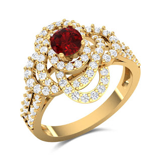 Diamond and Ruby Ring - Zaamor Diamonds