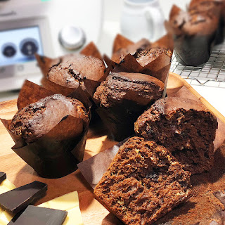 Muffins de chocolate Thermomix