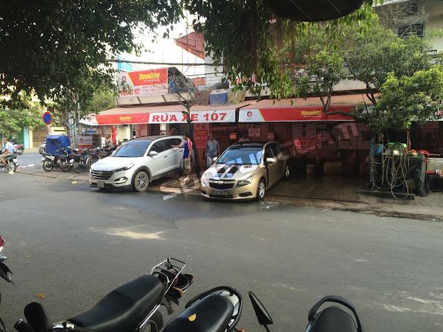 Tiem rua xe o to khong can cau nang 1 tru
