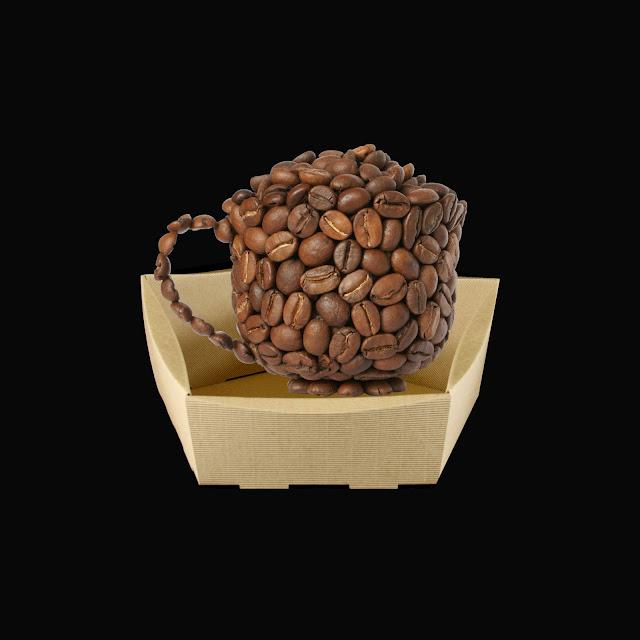 filiżanka kawy w koszyku