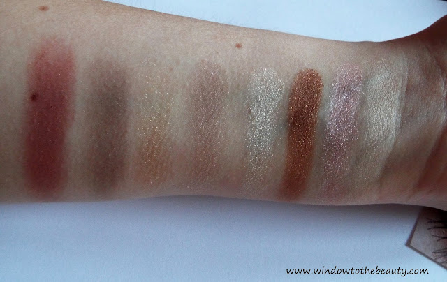 Elizabeth Arden eyeshadow swatches
