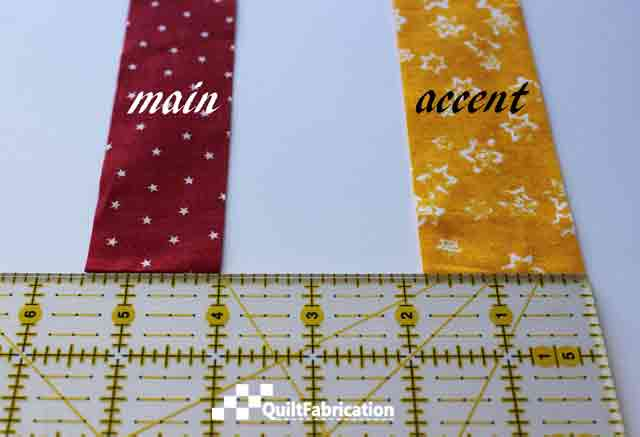 Piped Quilt Binding main and accent strips