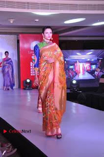 South Indian Celebrities Pos at Love For Handloom Collection Fashion Show  0056.jpg