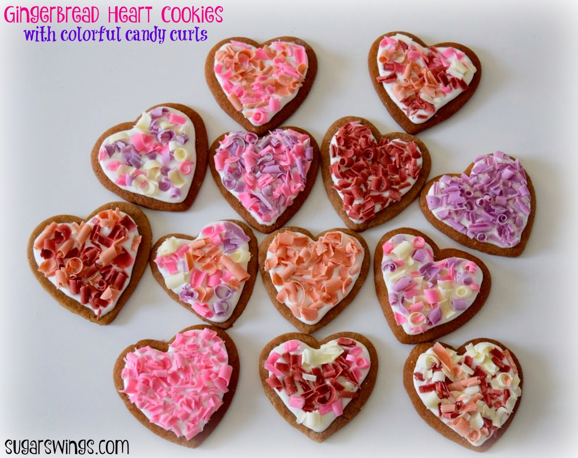 Sugar Swings Serve Some Gingerbread Heart Cookies With Rainbow