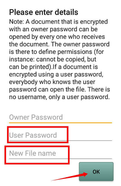 PDF me password lagana