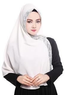 Koleksi Jilbab Instan Warna Putih