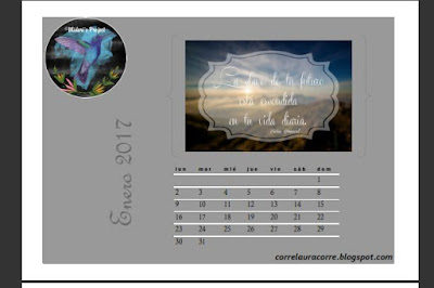 Calendario color black