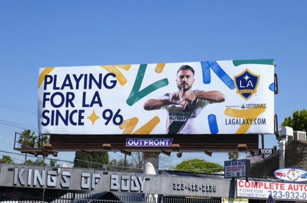 Playing for LA Galaxy since 96 billboard