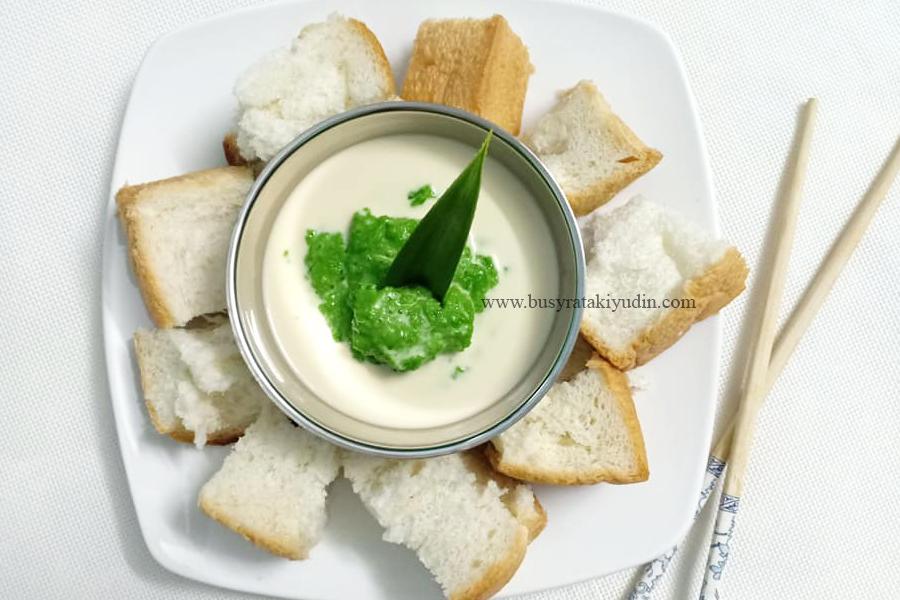 resepi sangkaya, sangkaya boat noodle, resepi roti stim sangkaya, daun pandan,