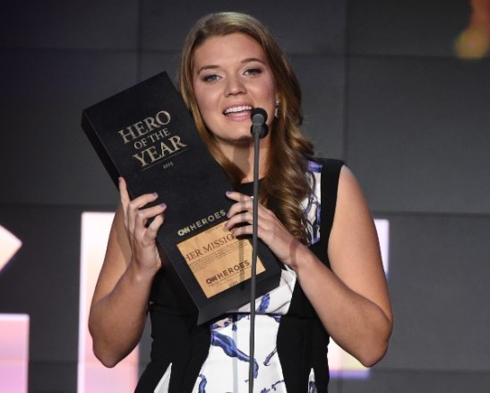 Maggie Doyne of Blink Now won the Hero of the Year award from CNN Heroes