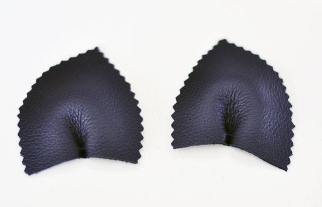 DIY Leather Cat Ears Headband