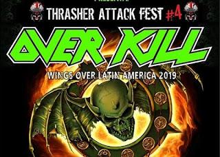 Concierto de OVERKILL en Bogotá 2019