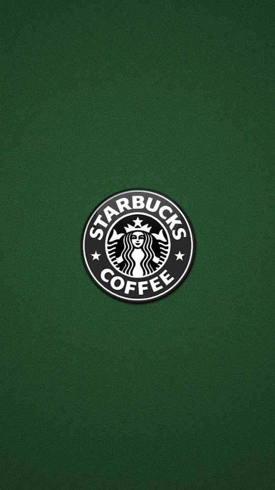 Starbucks Logo On Blue Background   Galaxy Note HD Wallpaper