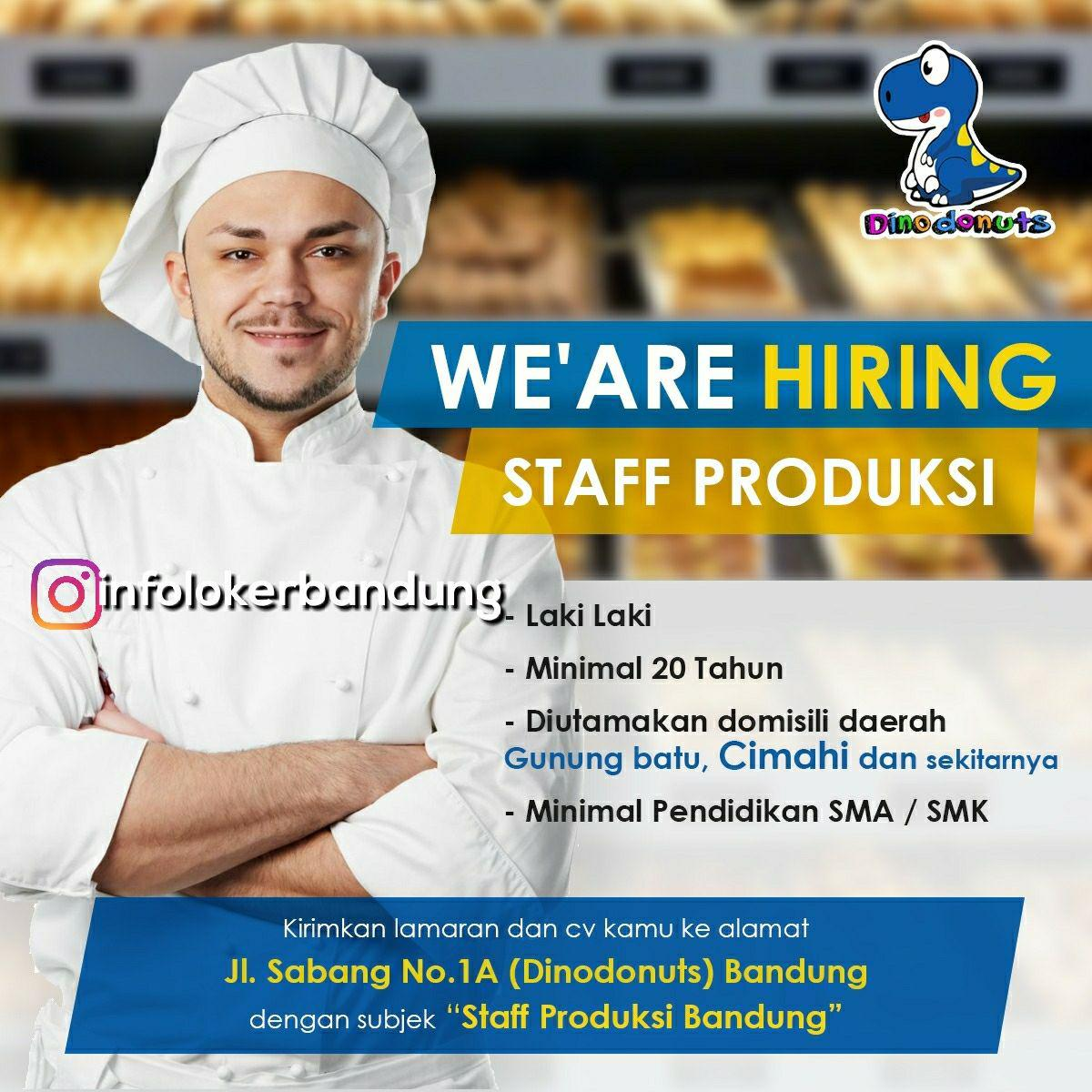 Lowongan Kerja Staff Produksi Dino Donuts Bandung Februari 2018