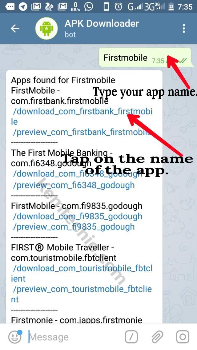 Downloading Google playstore app with Telegram