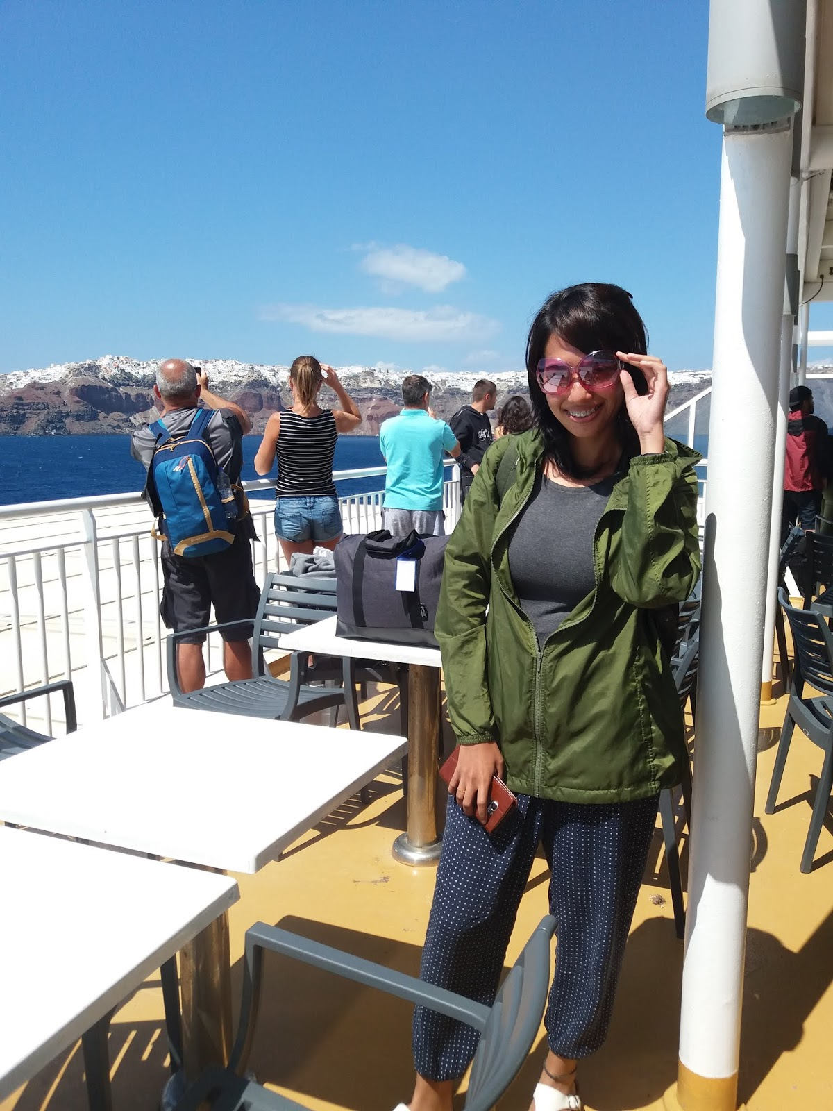 Blue Star Ferry to Santorini - how to travel in Santorini on a budget