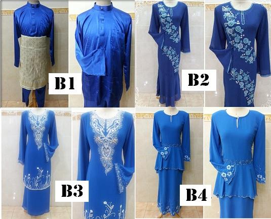 Image result for baju kurung dan baju melayu biru