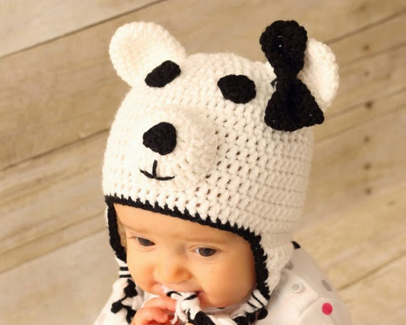 Handmade Polar Bear Hat for Baby
