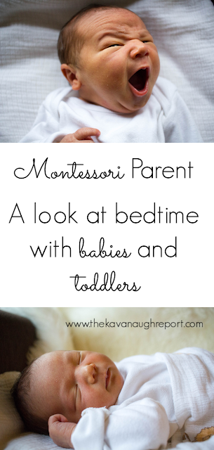 A look at bedtime with babies and toddlers in our Montessori home, how we choose to follow our child