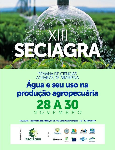 XIII edição da Semana de Ciências Agrárias da Faciagra debate a água e seu uso na produção agropecuária
