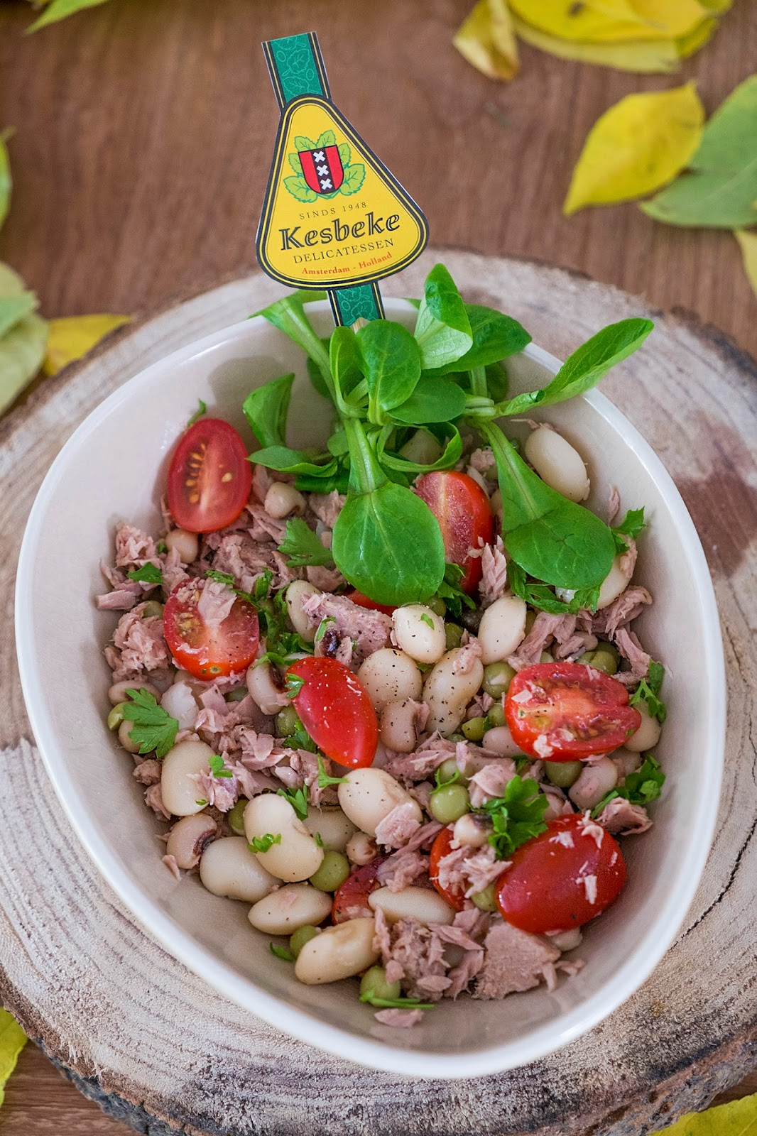 Griekse mix met tonijnsalade