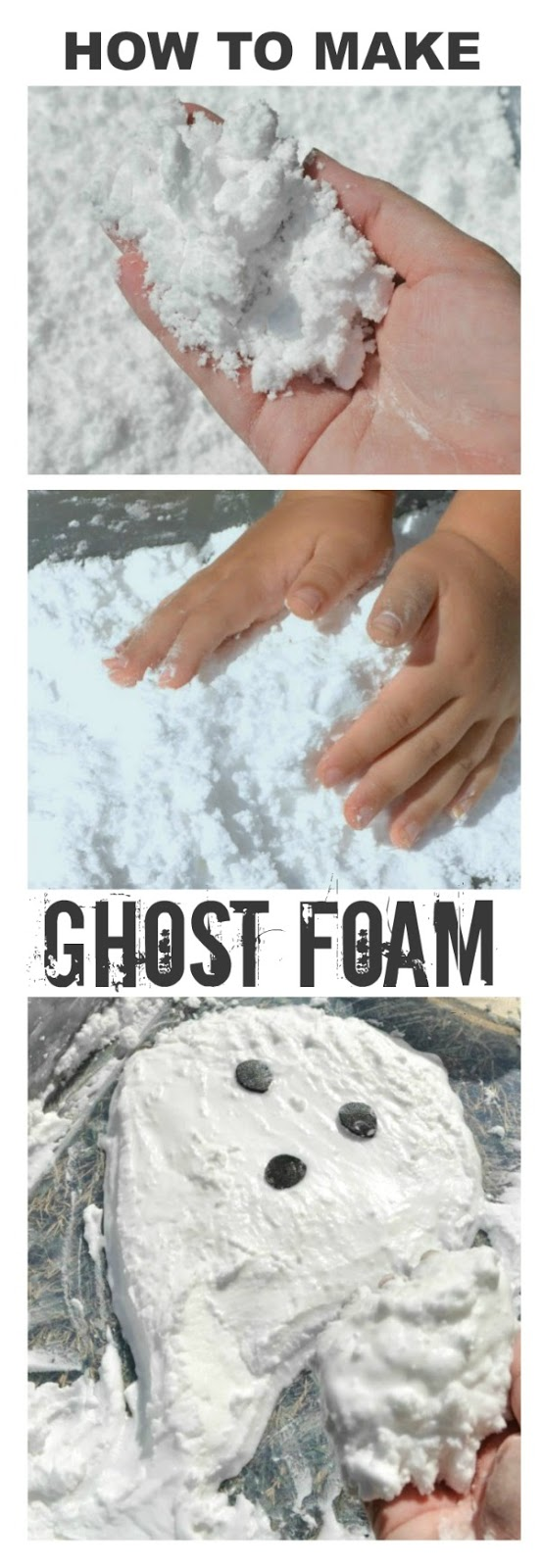 HOW TO MAKE GHOST FOAM- this stuff is so fun!