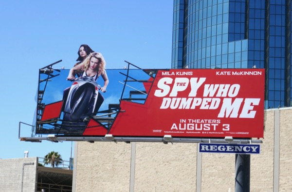 Spy Who Dumped Me special extension billboard