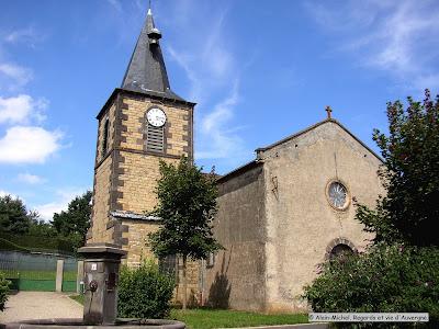 Manson, Puy-de-Dôme, l'église.