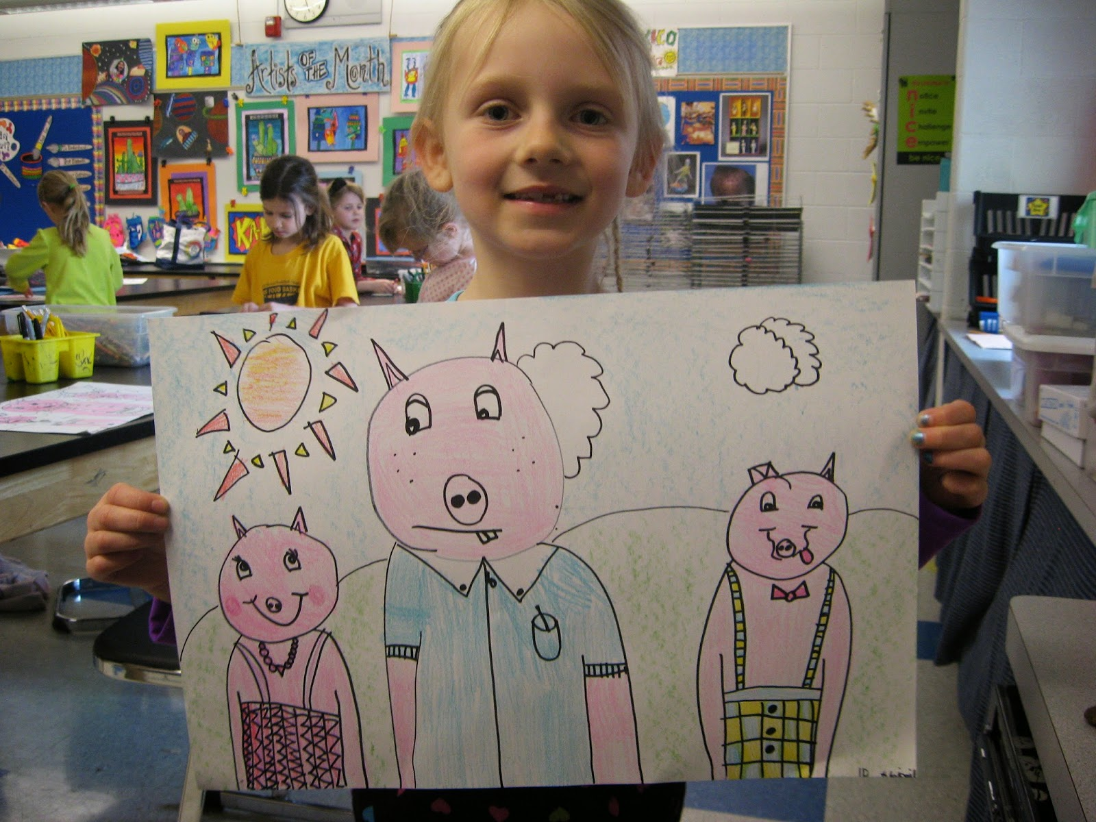 Jamestown Elementary Art Blog Kindergarten And 1st Grade Illustrators