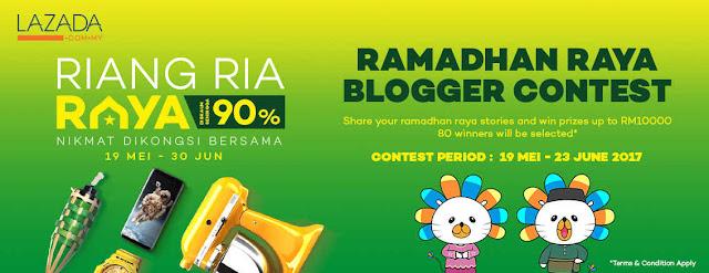 ramadhan raya blogger contest, lazada, resepi daging bakar, kuali ajaib murah, non stick pan, Marhaban Ya Ramadhan by Lazada