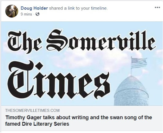 Doug Holder Interview in print in today's Somerville Times