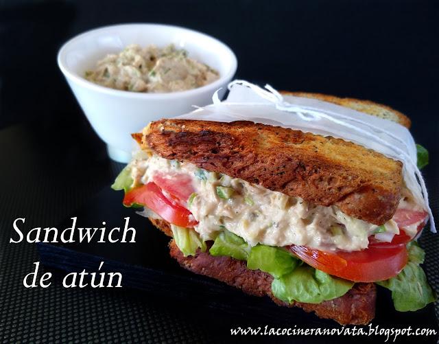 sandwich de atun la cocinera novata receta cocina dip paté bocadillo ensalada conserva de pescado
