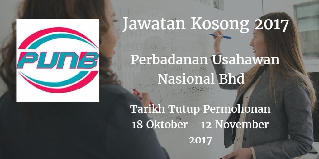 Jawatan Kosong PUNB 18 Oktober - 12 November 2017