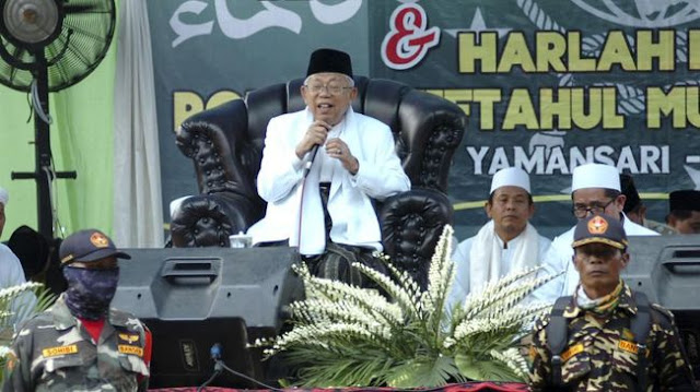 KPU Larang Kampanye di Pesantren, Ma'ruf Amin Berdalih Silaturahmi