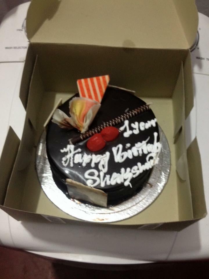 Birthday Name Cake One Year Happy Birthday Shaksham Cake