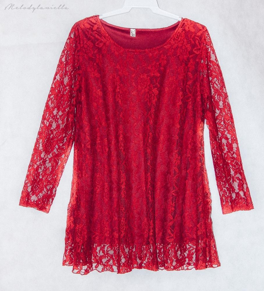 koronkowa czerwona sukienka w kolorze wina style look fashion moda studniowka wesele jakosc ubran dresslink melodylaniella