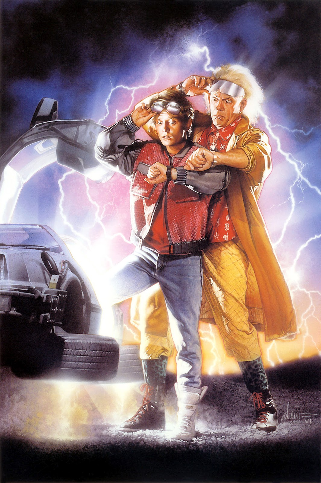 David Lloyd Derby >> The Geeky Nerfherder: Movie Poster Art: Back To The Future Part II (1989)