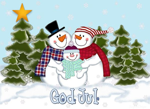målarbilder god jul snowman clipart