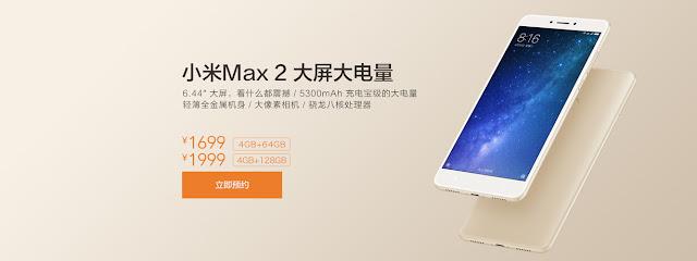 Smartphone Mi Max 2 Xiaomi bateria de 5.300mAh