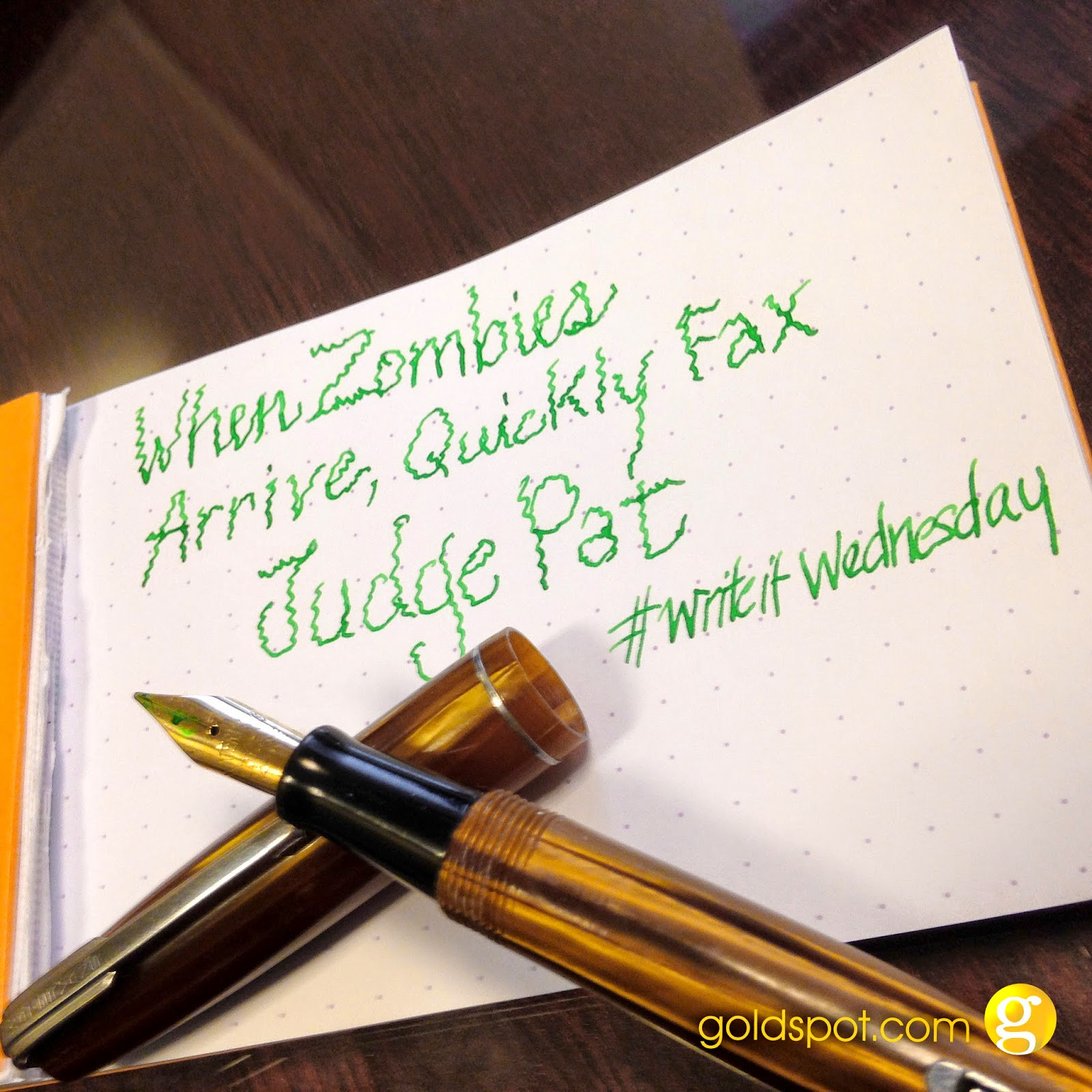 #WriteitWednesday - The Quick Brown Fox