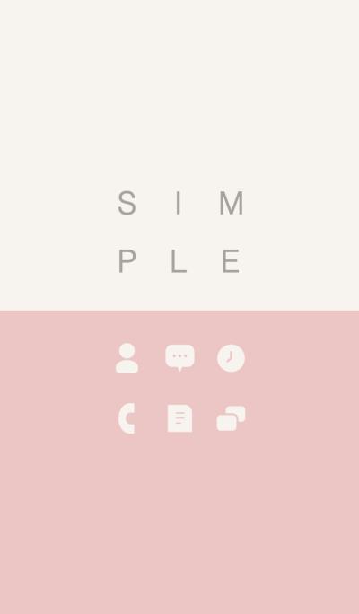 SIMPLE / pink-beige.